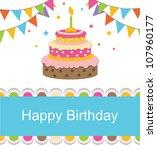 cute birthday card | Shutterstock .eps vector #107960177