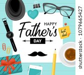 fathers day concept with... | Shutterstock .eps vector #1079665427
