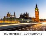 big ben in london at night | Shutterstock . vector #1079689043