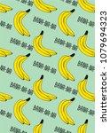 cute banana fruit pattern for...   Shutterstock .eps vector #1079694323