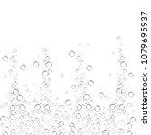 air bubbles set isolated on... | Shutterstock .eps vector #1079695937
