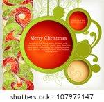vintage christmas card.... | Shutterstock .eps vector #107972147