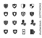 vector image set of protection... | Shutterstock .eps vector #1079744543