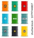 industry concept. set of... | Shutterstock .eps vector #1079744807