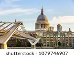 st. paul's cathedral and the... | Shutterstock . vector #1079746907