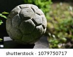 Sculpture Of A Soccer Ball On...