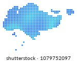 blue dotted singapore map.... | Shutterstock .eps vector #1079752097