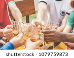 multination football supporters ... | Shutterstock . vector #1079759873