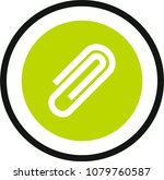 paperclip vector icon | Shutterstock .eps vector #1079760587