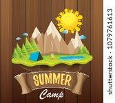 summer camp kids logo concept...   Shutterstock .eps vector #1079761613
