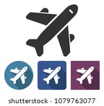plane icon in different... | Shutterstock .eps vector #1079763077