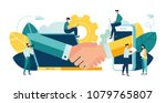 online conclusion of the... | Shutterstock .eps vector #1079765807