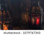 eid or ramadhan lantern in... | Shutterstock . vector #1079767343