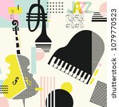 music colorful background with... | Shutterstock .eps vector #1079770523
