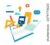 education  online training... | Shutterstock .eps vector #1079775623
