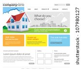 website template with home. 960 ...   Shutterstock .eps vector #107980127