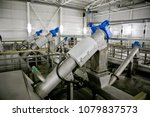 wastewater treatment plant.... | Shutterstock . vector #1079837573