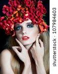 portrait of beautiful woman... | Shutterstock . vector #107984603