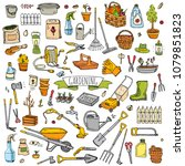 hand drawn doodle set of... | Shutterstock .eps vector #1079851823