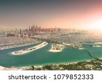 dubai skyline from palm island... | Shutterstock . vector #1079852333