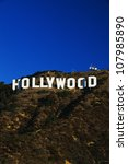 This is the Hollywood Sign in morning light. - stock photo
