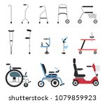 set of icons that represent... | Shutterstock .eps vector #1079859923