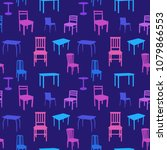 seamless multicolored chairs... | Shutterstock .eps vector #1079866553