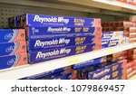 Small photo of Holetown, Barbados, 03/19/2018: Reynolds Wrap occupies a shelf of a local supermarket.