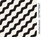 vector seamless black and white ... | Shutterstock .eps vector #1079875067
