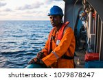 tired rating seaman ab or bosun ... | Shutterstock . vector #1079878247