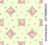 flower pattern. seamless vector | Shutterstock .eps vector #1079888033