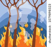 forest fire. series of natural... | Shutterstock .eps vector #1079898323