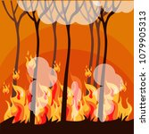 forest under fire. series of... | Shutterstock .eps vector #1079905313