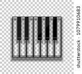 simple piano icon. black glass...   Shutterstock .eps vector #1079910683