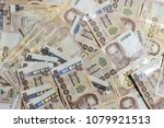 close up a lot of thai baht...   Shutterstock . vector #1079921513