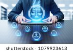 labor law lawyer legal business ... | Shutterstock . vector #1079923613
