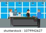 vector big supermarket or mall... | Shutterstock .eps vector #1079942627