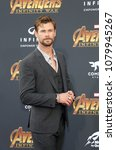 chris hemsworth at the premiere ... | Shutterstock . vector #1079945267