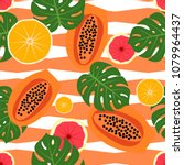 seamless striped pattern with...   Shutterstock .eps vector #1079964437
