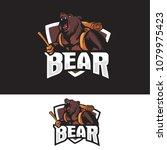 bear hiking logo | Shutterstock .eps vector #1079975423