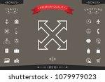 extend  resize  enlarge line...   Shutterstock .eps vector #1079979023