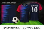 soccer jersey and t shirt sport ... | Shutterstock .eps vector #1079981303