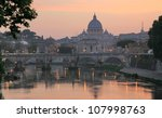 Sunset View Of The Vatican Wit...