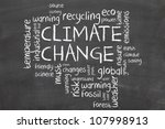 climate change word cloud | Shutterstock . vector #107998913