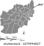 afghanistan map vector outline... | Shutterstock .eps vector #1079994827