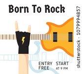 rock and roll  music festival... | Shutterstock .eps vector #1079994857