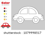 car in cartoon style  color by... | Shutterstock .eps vector #1079998517