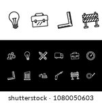 industry icon set and pencil...