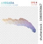anegada polygonal  mosaic style ... | Shutterstock .eps vector #1080050867
