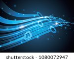 technology abstract stripe... | Shutterstock .eps vector #1080072947